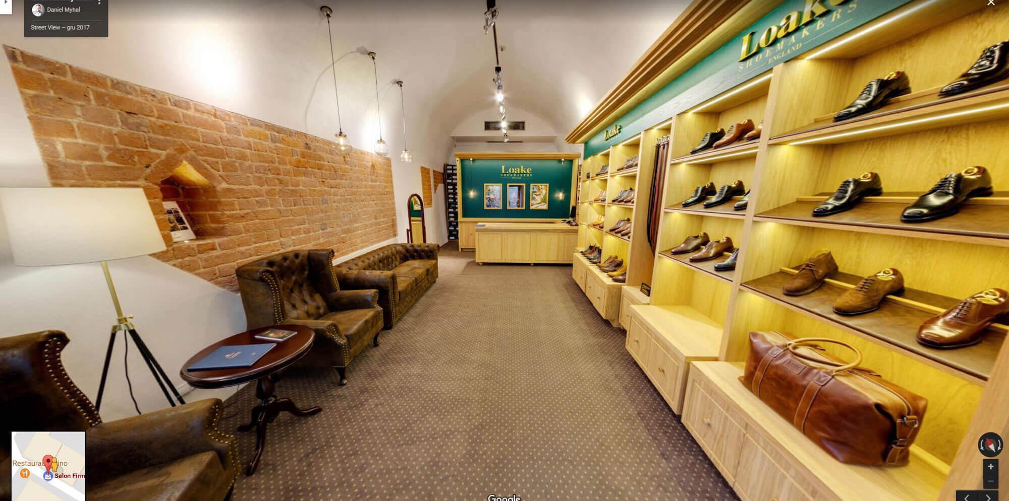 Salon Firmowy Loake Kraków wirtualny spacer Google Street View