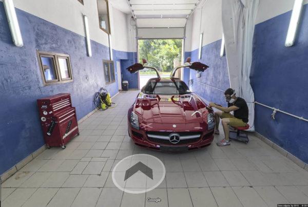 Autoklinika wnętrza car detailing fotografia wnętrz google Wieliczka wirtualny spacer