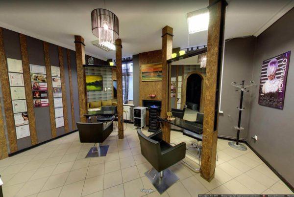 Fire Cube Fryzjerstwo Gorlice wirtualny spacer Google wnętrza firmy w google