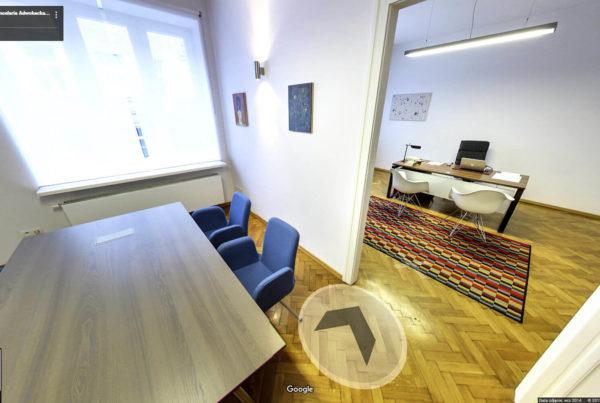 Kancelaria Adwokacka w mapach Google Street View Kraków wnętrza fotografia
