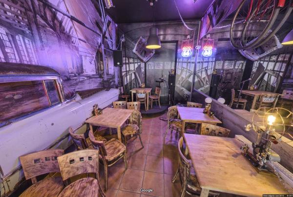 Kawiarnia Old Time Garage w mapach Google Street View Kraków fotograf wnętrz