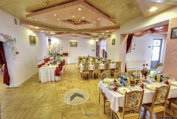 Sala weselna w mapach Google Fotografia wnętrz Gorlice Anna Maria restauracja