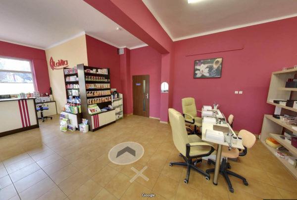 Salon piękności w Google Street View wirtualny spacer Gorlice La Vita