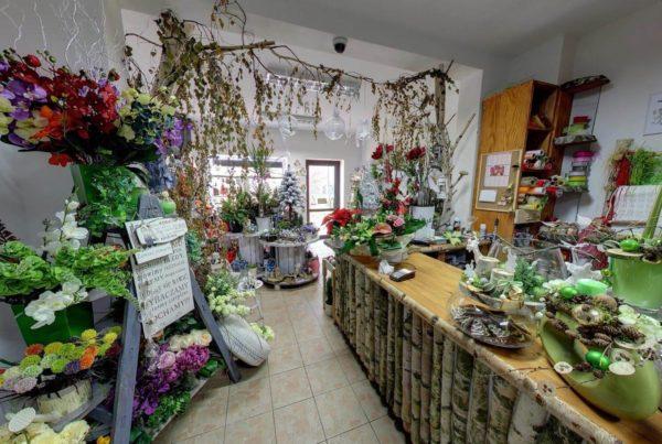 Sklep Florystyczny Ślubna Bajka Kraków wirtualne wycieczki google Fotograf