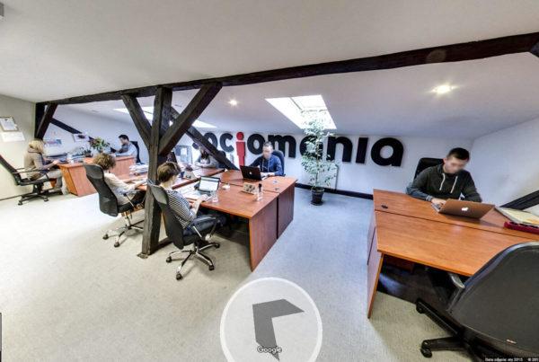Wirtualny spacer Kraków firma szkoleniowa w mapach Google Socjomania