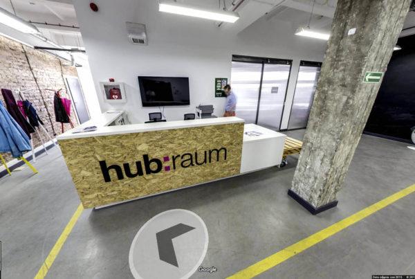 Wnętrza biura Coworkingowego w mapach Google street view fotografia wnętrz Kraków