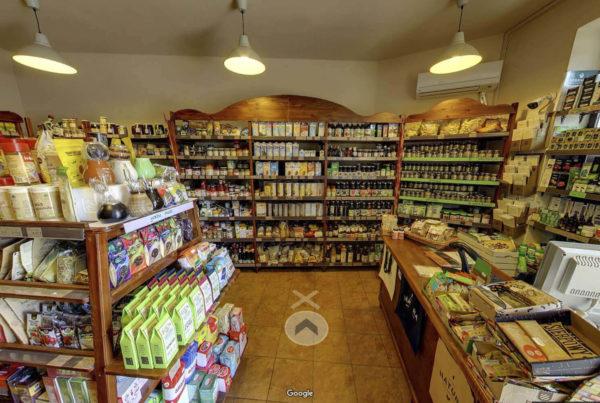 Wnętrza sklepu w mapach Google Street View wirtualny spacer Sklep Natura