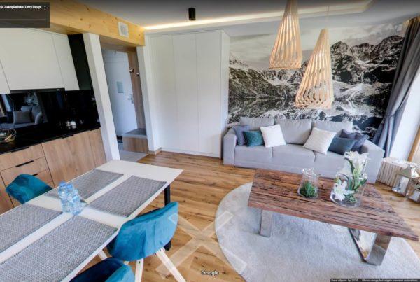 Apartamenty wirtualny spacer Google wnętrza 3d Rezydencja zakopiańska 6