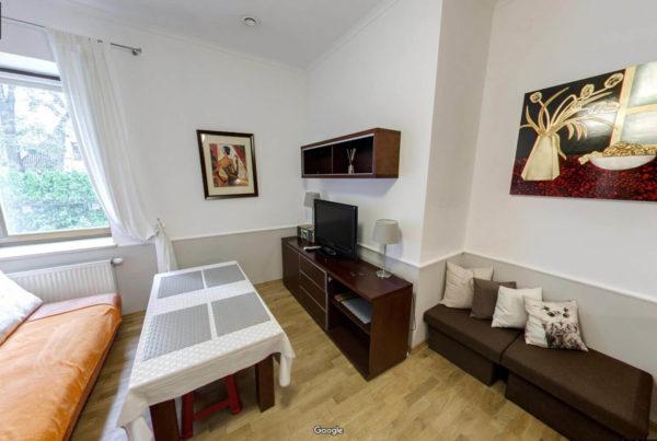Wirtualny spacer Google Street View wewnątrz Apartamentu Radowid