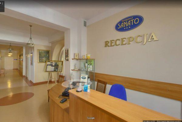 Wirtualny spacer Google po pensjonacie hotelu uzdrowisku Busko Zdrój Sanato