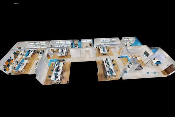 Wizualizacja 3D model 3D biuro w 3D wirtualny spacer Google Allekurier Kraków