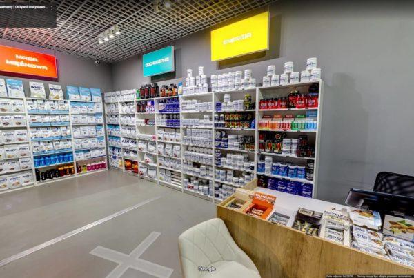 Wirtualny spacer w sklepie z odżywkami i suplementami diety SFD Kraków