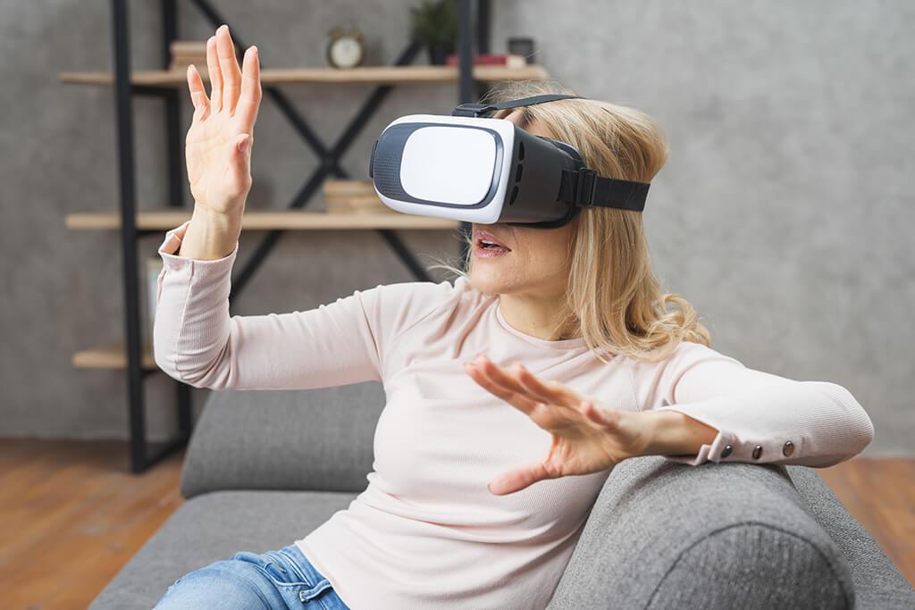 okulary VR wirtualny spacer z modelem wnętrza 3D
