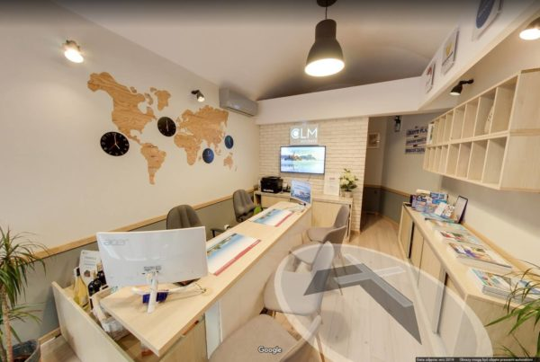 Biuro podróży CLM wirtualny spacer Google Kraków